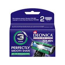 <b>Кассеты</b> сменные 3 лезвий для бритья, <b>DEONICA FOR MEN</b>, 2шт ...