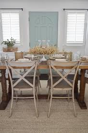 easy summer to fall dining room refresh fox hollow cote lasting farmhouse dining room table and decorating ideas