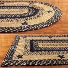 braided area rugs awesome ihf home decor star black design feet x oval of country beautiful