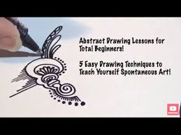 abstract drawing abstract drawing lessons for beginners 5 different techniques to