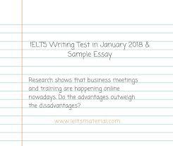 ielts writing test in january 2018