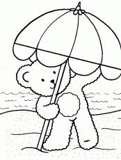 Small Picture Day At The Beach Coloring Pages Coloring Home