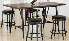 rc willey bar stools. Brown And Metal 5 Piece Dining Set With Wine Rack David Rc Willey Bar Stools B