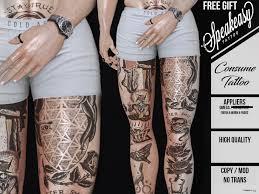 Consume Leg Tattoo Omega Applier December 2018 Gift By Speakeasy