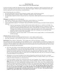 Apa Writing Style Dos And Donts