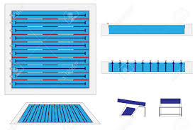 Semi Olympic size Swimming Pool Royalty Free Cliparts Vectors And