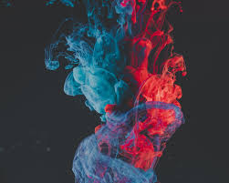 blue and red smoke illustration photo ...