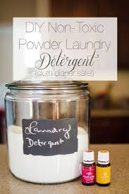 diy non toxic powder laundry detergent cloth diaper safe with young living