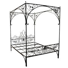 Queen Wrought Iron Vine Canopy Bed | Furniture | Wrought iron beds ...