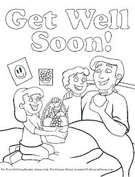 Get Well Soon Printable Coloring Pages For Toddlers Page Cremzempme