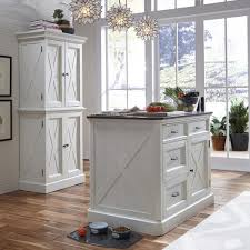 Kitchen Island Home Styles Seaside Lodge Hand Rubbed White Kitchen Island With