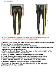 Waist To Knee Measurement Chart Size Guide Leatherexotica