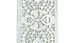 pier 1 rattan wall decor by white carved