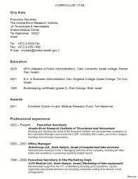 Secretary Resume Sample Resume Examples For Secretary Job Therpgmovie 44