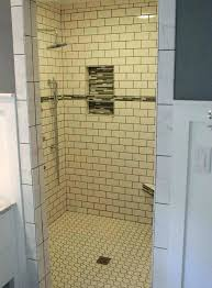 marvellous white linen tile bathroom linen tile shower accent tile shower niche glass subway tiles bathroom