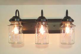 country charm bathroom with adorable lighting fixtures great mason jar