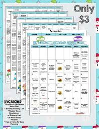 December Weekly Monthly Menu Plan Meal Planner W Grocery Lists And Recipes Weekly Menu Plan Grocery List Christmas Dinner Planner