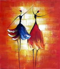 hand painted oil wall art beauty dancer home decoration modern beautiful abstract paintings