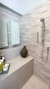 wavy tile bathroom wavy tiles photo k the walk in shower with tile subway bathroom white