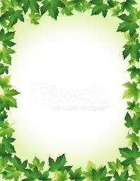 Green Leaf Border Stock Vector Freeimages Com