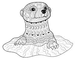 Otter Coloring Page Beautiful Sea Otter Coloring Page Cute Otters