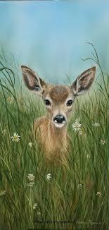 little one acrylic on canvas deer painting wildlife art paintings of north american wildlife including moose bear deer cougar and sheep