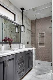 gray bathroom designs. Transitional Master Bathroom With Taupe Hexagonal Tile Gray Designs