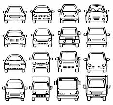 車の正面図ペン画風線画の画像素材31198276 イラスト素材なら