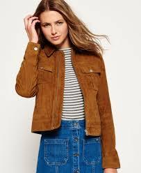 womens superdry suede billie er jacket tan superdry leather jackets uk superdry jackets