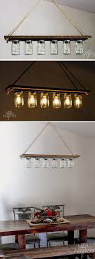check out this easy idea on how to make a diy masonjar chandelier for