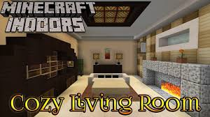 Minecraft Living Room Designs Minecraft Indoors Interior Design Cozy Living Room Youtube