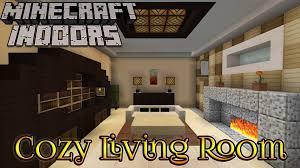 Minecraft Interior Design Living Room Minecraft Indoors Interior Design Cozy Living Room Youtube