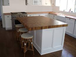 butcher block countertops 2. Warm Teak Butcher Block Wood Countertop In A Bright White Kitchen Countertops 2 T