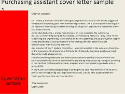 Purchasing assistant cover letter sample ...