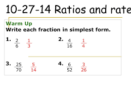 ratios in fraction form ratios and rates warm up ppt video online download