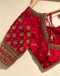 Latest Blouse Designs Photos 2019 Latest Checks Blouse Designs For 2019 Pattu Saree Blouse