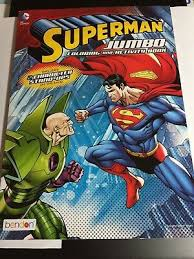Perforated tear & share pages, easily torn out for keeping, or sharing with a friend! Dc Comics Superman Jumbo Coloring Activity Book With 2 Character Stand Ups 5 65 Picclick