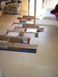 Underfloor storage in bedroom / office. Spaced at the perfect height and  width for standard