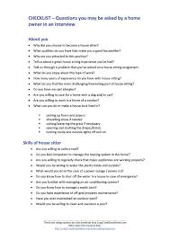House Sitting Checklist House Sitting Resources Long Term House Sitters