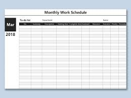 Schedule Monthly Template Wps Template Free Download Writer Presentation