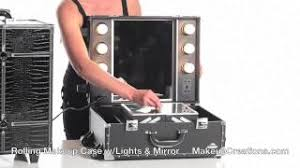 get ations makeup cases rolling makeup case with lightirror