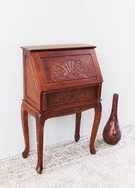 international caravan windsor hand carved wood secretary desk reviews wayfair