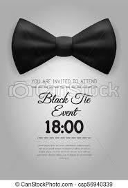 A4 Elegant Black Tie Event Invitation Template Eps10 Vector