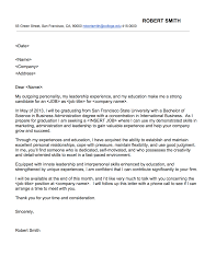 Best Ideas Of Cover Letter First Job After College With Sample