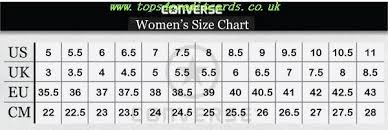 Converse Shoes Womens Size Chart Tops4creditcards Co Uk