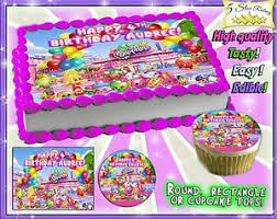 Shopkins Cake Or Cupcakes Topper Image Sheet Picture Edible Sugar