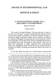 a constitutional right to a healthful environment issues in  what is