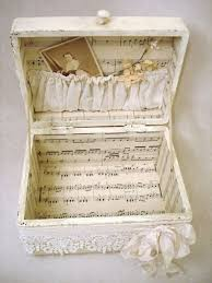 Decorating Cigar Boxes Easy to Make Romantic Sheet Music Decorating Projects DIY Vintage 96