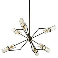 troy lighting raef 21 75 6 light chandelier bronze brushed brass f6316