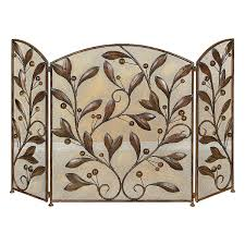 deco 79 metal fire screen 48 by 30 inch